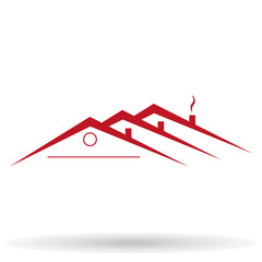 vector house roofs icon, logo for the company isolated. roofs of houses Picture, roofs of houses Image, roofs of houses Graphic, roofs of houses JPEG, roofs of houses EPS10 - stock vector