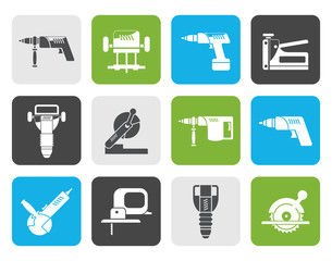 Flat Building and Construction Tools icons - Vector Icon Set