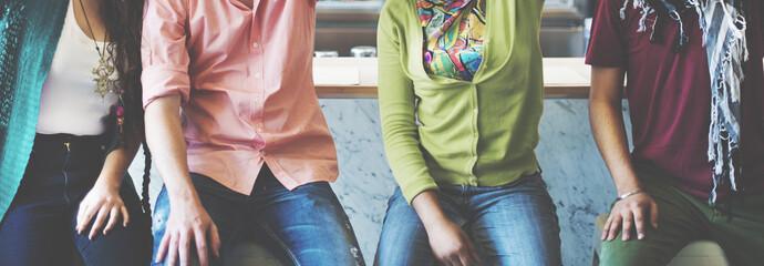 Teens Students University Friends FRiendship Concept