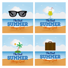 Summer vacation items