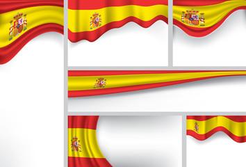 Abstract Spain Flag, Spanish Colors (Vector Art)