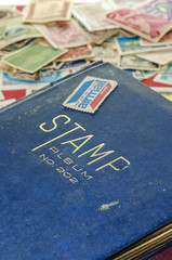 stamp collecting book