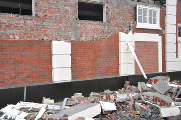 typical damage from the February 22, 2011 Earthquake in Christchurch, New Zealand