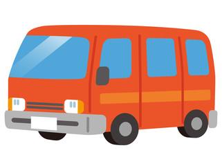 小型バス 赤 マイクロバス