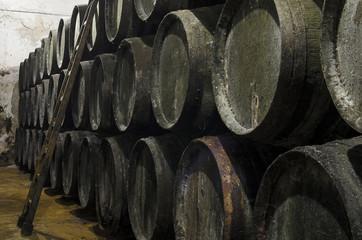 Old barrels for Whisky or wine