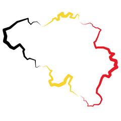 Belgia - mapa