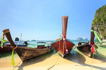 Longtale boat on the beach