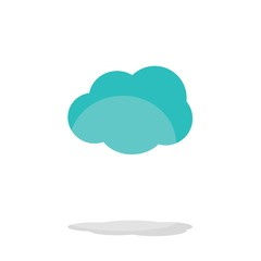Cloud. Icons. Vector illustration.