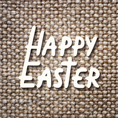 Happy Easter vector typography design elements for greeting cards