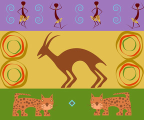 Abstract ethnic pattern, tribal background. Vector illustration. eps10 (205)