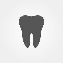 Tooth Icon in flat design and stylish illustration