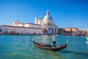 Foto op Aluminium Venetie traditional Gondolas on Grand Canal in Venice, Italy