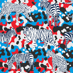wild animals pattern,  camouflage background