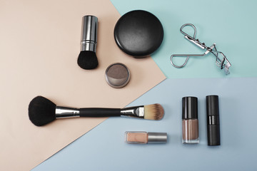 Make up products in studio