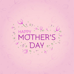 Greeting Card for Mother's Day. Delicate design concept. Typical