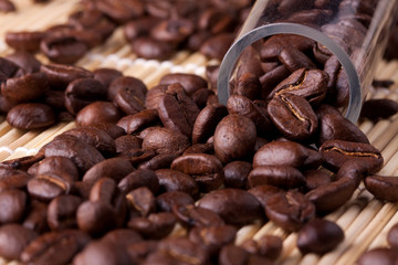 coffee beans take the sample the lab.