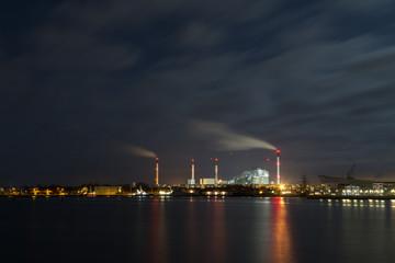Amager Power Plant and Harbour in Copenhagen, Denmark