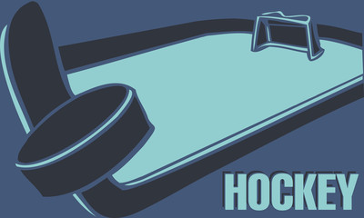 Hockey ice rink