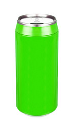 Aluminum green soda can