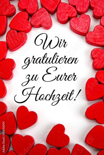 Wir gratulieren zu Eurer Hochzeit Stock photo and