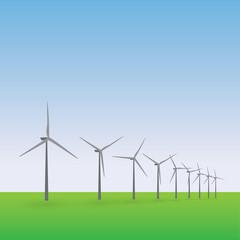 wiatraki, farmy wiatrowe, elektrownie