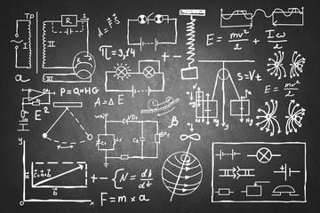Hand drawn physics set