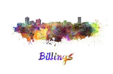 Billings skyline in watercolor
