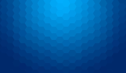 Blue black abstract geometric gradient hexagon pattern backgroun