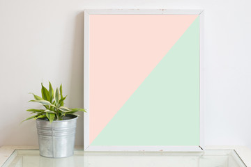 frame and decorative in pantone color