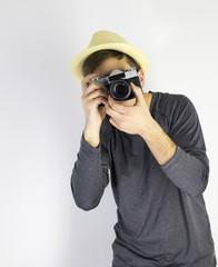 Men with dslr camera