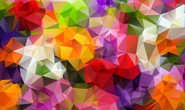 Colorfull background triangulate