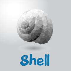 Shell logo triangulate