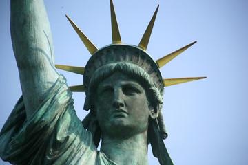 東京お台場|自由の女神像|顔ズーム