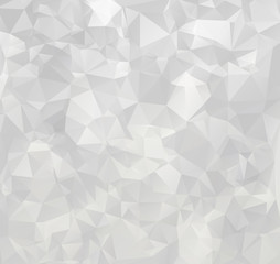 Gray White Polygonal Background, Creative Design Templates