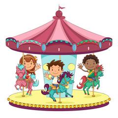 Children merry go round