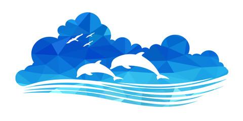 animal of wildlife (dolphins)