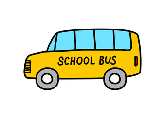 School bus icon on white background