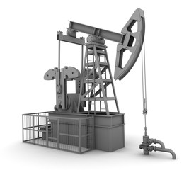 Oil pump on white background