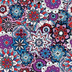 Garden Poster Moroccan Tiles Seamless pattern texture. Indian, arabic, turkish style elements