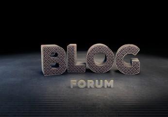 Blog, Forum, 3D Typography
