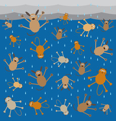 Storm is so severe it is raining cats and dogs