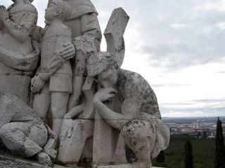 Cerro de los Angeles in Getafe, Madrid. monument inaugurated by