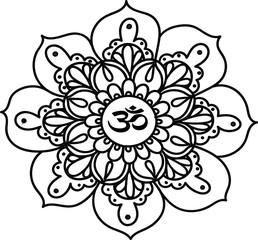 Медитация, мандала Ом