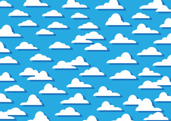 Pattern Clouds on Blue Background,Texture,Vector