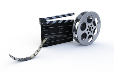 Film reel and clapper
