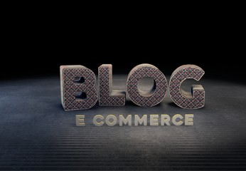 Blog, Commerce, 3D Typography
