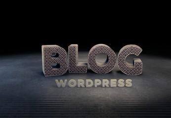 Blog, Wordpress, 3D Typography