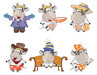 Happy cows.Clip-Art. Cartoon