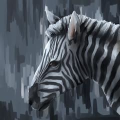 illustration digital painting animal zebra