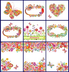 Summery colorful backgrounds